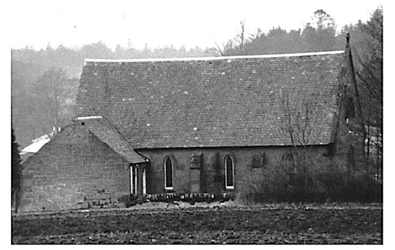 Early photograph of St Anthony's east elevation. Note, no evidence of the spire. Courtesy of Jim Thomson